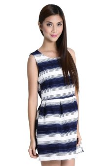 Arianna 6 Dress By Fashion Haus Online ( Blue/White)