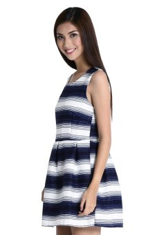 Arianna 6 Dress By Fashion Haus Online ( Blue/White) - picture 2