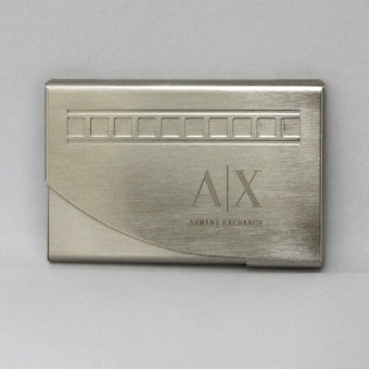 Armani Exchange Thin Aluminum Card Holder