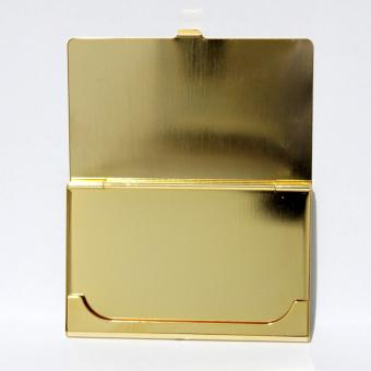 Armani Exchange Thin Aluminum Card Holder (Gold) - 3
