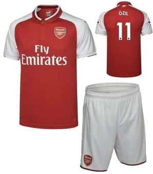 Arsenal Home Shirt Jersey 2017-18 NO.11 OZIL football jersey soccer jersey with free shorts - intl