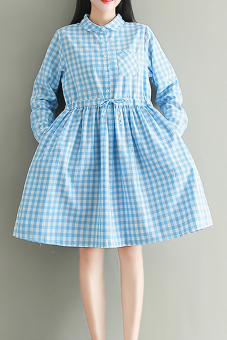 Art Linen new plaid shirt dress