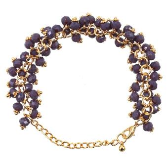 Athena Amethyst Crystal Beads Bracelet (Violet)