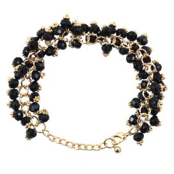 Athena Glimmer Crystal Beads Bracelet (Black)