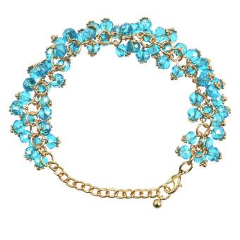 Athena Glimmer Crystal Beads Bracelet (Blue)