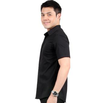 Attraxion Dean Embroidered Pattern Polo for Men (Black) - 4