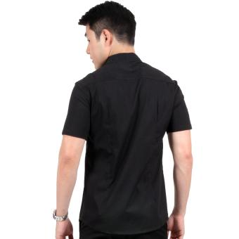 Attraxion Dean Embroidered Pattern Polo for Men (Black) - 5