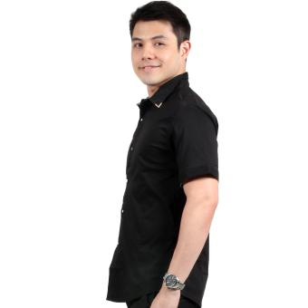 Attraxion Malcolm Plain Polo for Men (Black) - 2