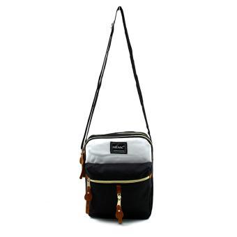 Attraxion Oliver - 16011 Sling Crossbody Bag for Men CreamMluticolored (Black) - 2