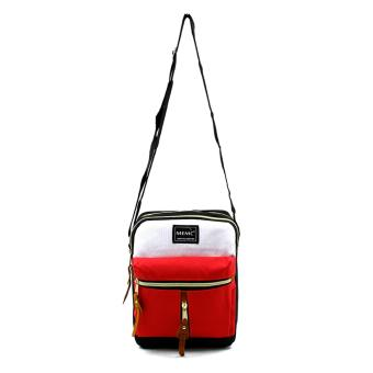 Attraxion Oliver - 16011 Sling Crossbody Bag for Men CreamMulticolored (Red) - 2