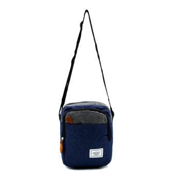 Attraxion Spencer - 1215-1 Sling Crossbody Bag for Men Gray Multicolored (Navy Blue) - 2
