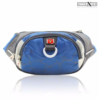 Attraxion Swiss Gear - SA0816 Waist Belt Bag for Men (Blue) Price Philippines