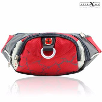 Attraxion Swiss Gear - SA0816 Waist Belt Bag for Men (Red) Price Philippines