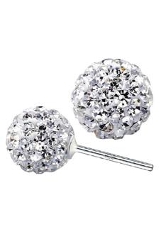Aukey 925 Silver Women Shamballa Disco Ball Earrings