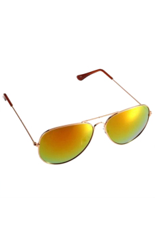 Aukey Vintage Aviator Unisex Sunglasses (Yellow Glass)