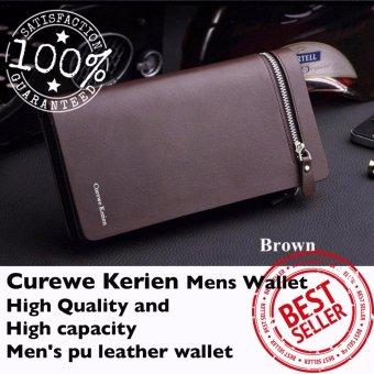 Authentic Korean Curewe - Men's Leather Wallet - (COFFEE BROWN) - 2