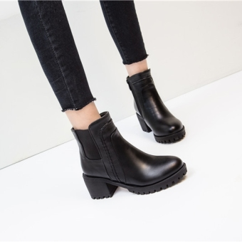 Autumn and Winter New style Ankle boots (Black)