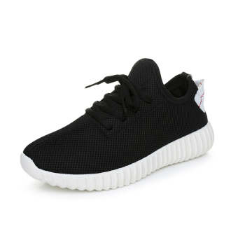 Autumn New style shoes Korean-style sports shoes (Black)