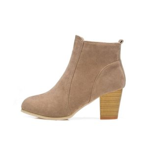 Autumn Winter Boots With High Heels Boots Shoes Martin Boots WomenAnkle - intl - 2