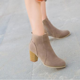 Autumn Winter Boots With High Heels Boots Shoes Martin Boots WomenAnkle - intl - 3