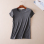 B503 simple solid color summer flat T-shirt