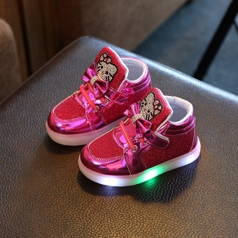 Babies' LED Shoes Kids' Sports Shoes LED Light Toddler Sneakers(Red) - intl