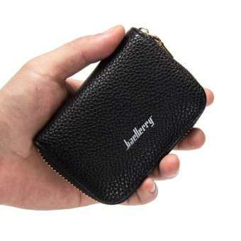 Baellerry Slim Mini Wallet Women Ladies Wallets Leather Card HolderClutch Female Small Purse for Coins (black) - intl