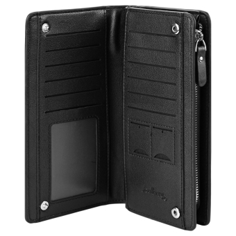 Baellerry Solid Color Cell Phone Money Photo Card Clutch Wallet for Men - 4