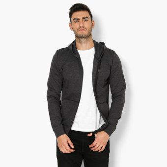Baleno Zip-front Mens Hooded Jacket (Dark Grey)