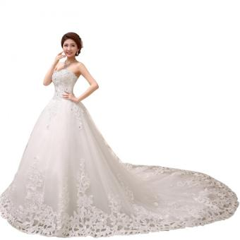 ball gown 2016 long train bridal dresses Imported lace weddingdress Price Philippines