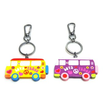 Bambinata Bus Snap-On Keychain Set of 2