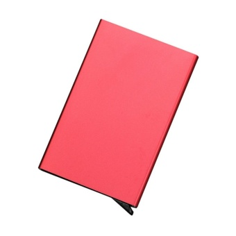 Bank Credit Card Package Card Holder Business Card Case Card Box(Pink)