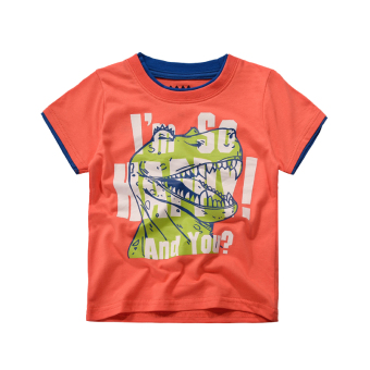 Baobao Korean-style cotton boy's short sleeved t-shirt