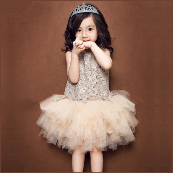 Baobao Korean-style summer New style children's princess skirt girls dress