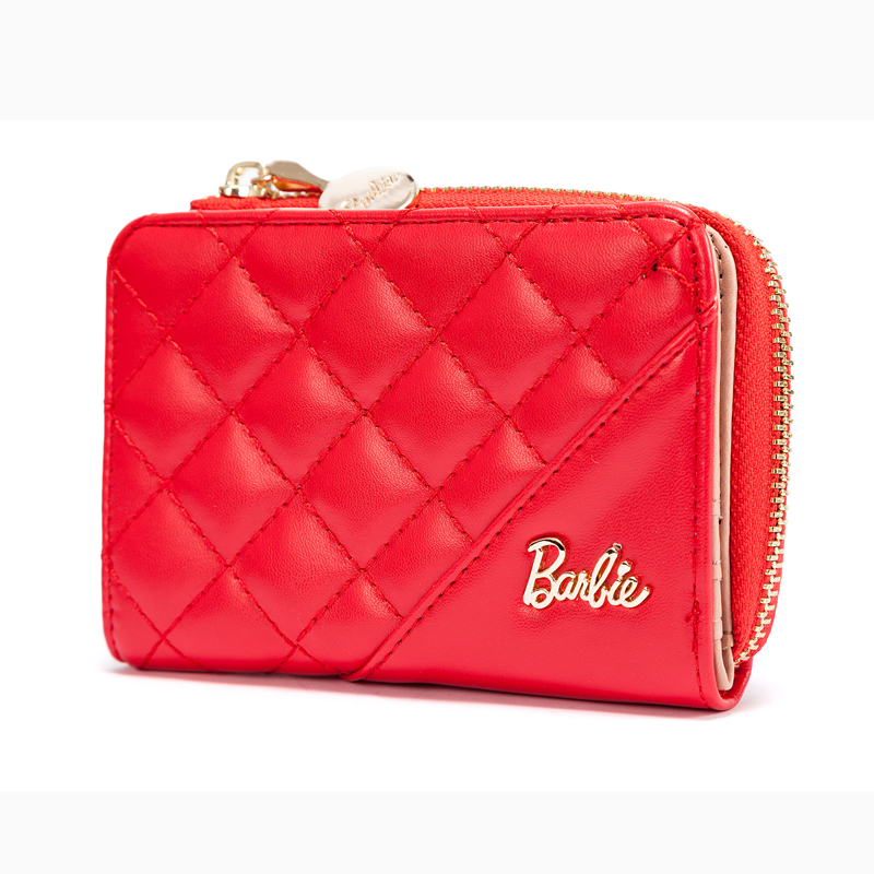 Barbie commuter Barbie snap button ol short women's wallet (Red)