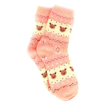 Be Fab Koala Cotton Socks (Peach)