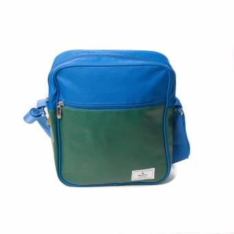 BENCH- BGM0614RBMG Medium Sling Bag (Royal Blue/Military Green)