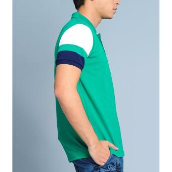 BENCH- BTC3838GR3 Men's Striped Sleeve Polo Shirt (Green) - 4