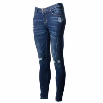 BENCH- LYM9304DB3 Ladies Overhauled Skinny Jeans (Sandblast) - 2