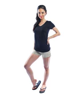 Bench V Neck Ladies Undershirt (Black) - 2