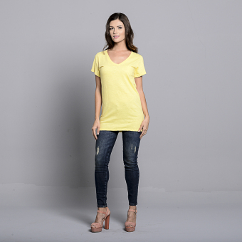 Bench V Neck Ladies Undershirt (Yellow) - 5