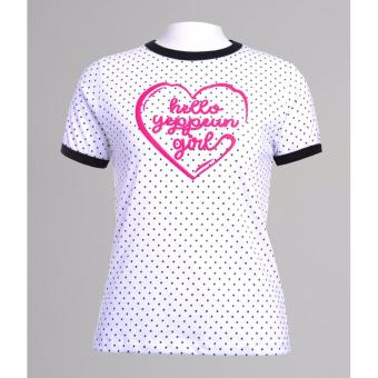 BENCH- YTF1947WH3 Ladies Polka Dot Shirt (White)