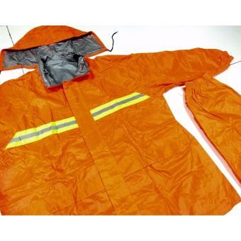 Best Quality Motorcycle riding rain coat suit with pantsXXXL(Orange) - 3