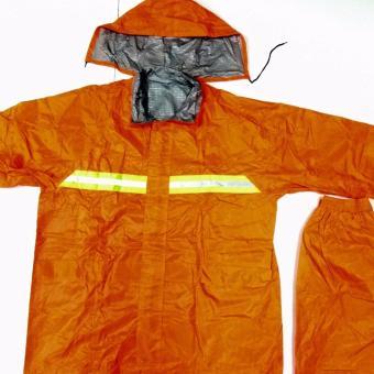 Best Quality Motorcycle riding rain coat suit with pantsXXXL(Orange) - 2