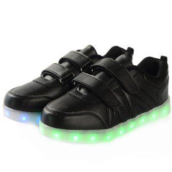 Bevoker 7 Color 11 Mode LED Light Up Shoes for Kids Boys - intl - 3