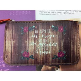 Bible Verse Cellphone/Lady's Accessories Pouch BE JOYFUL IN HOPE Price Philippines