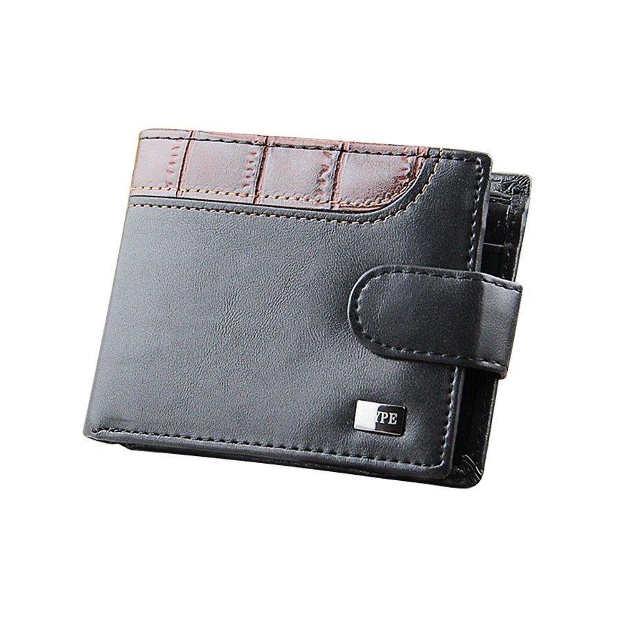 Bifold Men's Leather Purse Wallet Coin Pocket Card holder Short