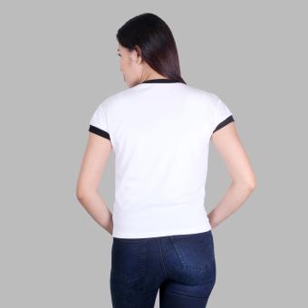 BIG HERO 6 BAYMAX Lovely Bae Cute Cotton Crop Top FashionablePrinted T-Shirt (White) - 2