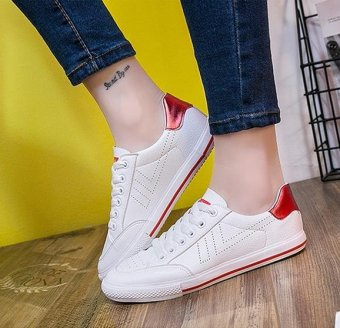 BIGCAT fashion new breathable sneakers white shoes for women and girls - intl