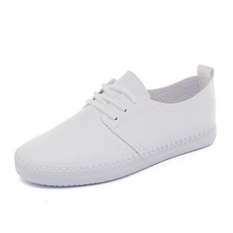 BIGCAT New breathable white shoes wild Korean white sneakers forwomen - intl - 2